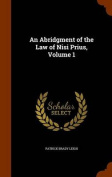 An Abridgment of the Law of Nisi Prius, Volume 1