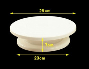Ecloud Shop® Rotating Wedding Birthday Cake Plate Turntable Cake Decorating Stand