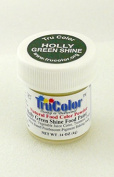 TruColor Shine Light Reflective Airbrush Natural Food Colour (Sm. Jar) Holly Green Shine