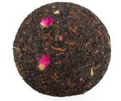 Rose flower mixed with Pu erh tea cake 800 grammes