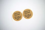 "Once Upon Supplies 6.4cm ""Love is Sweet!""Candy Bar Favour Labels, 60 Pcs"