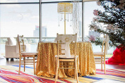 270cm Round Sparkly gold Sequin Table Cloth Sequin Table Cloth,Cake Sequin Tablecloths, Sequin Linens for Wedding