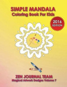 Simple Mandala Coloring Book for Kids