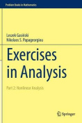Exercises in Analysis: 2016