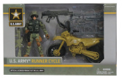 U.S. Army Runner Cycle Soldier Action Figure Playset