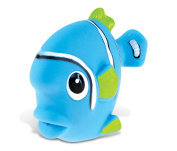 Puzzled Blue Fish Rubber Squirter Bath Buddy Bath Toy - Ocean \ Sea Life Collection - 7.6cm - Affordable High Quality Gift For Your Little One - Item #2783