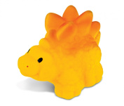Puzzled Yellow Stegosaurus Rubber Squirter Bath Buddy Bath Toy - Dinosaurs \ Prehistoric Collection - 7.6cm - Affordable High Quality Gift For Your Little One - Item #2777