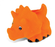 Puzzled Orange Triceratops Rubber Squirter Bath Buddy Bath Toy - Dinosaurs \ Prehistoric Collection - 7.6cm - Affordable High Quality Gift For Your Little One - Item #2779