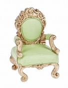 Fairy Tale Collections Green Castle Chair Figure - By Ganz