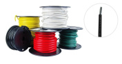 8 AWG Marine Wire - Tinned Copper Boat Battery Cable - Available in Black, Red, Yellow, Green, and White - Made in the USA