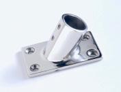 Boat Hand Rail Fitting-60 Degree 2.2cm Rectangular Base-Marine Stainless Steel