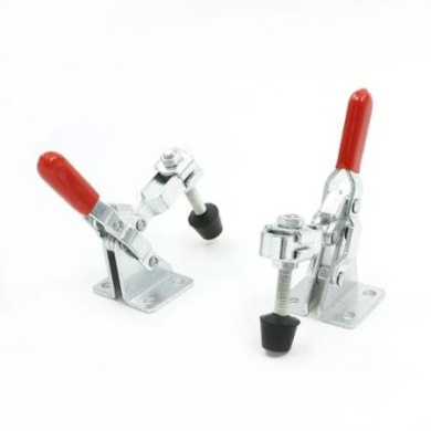 2pcs 101A Red Grip Flange Base Vertical Toggle Clamp 50Kg 110 Lbs