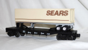 Lionel 6-19411 Nickel Plate Road TOFC Flat car with SEARS trailer 1992 FFlags#6