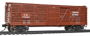 Walthers - 12m Stock Car w/Dreadnaught Ends - Ready to Run -- Canadian National #175002 (Boxcar Red, white) - HO