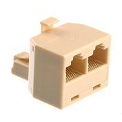 Pixnor RJ45 8-pin 1 Female to 2 Female Ethernet Network Cable Extension Coupler Connector