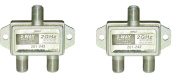 ACLgiants, (2 PACK) 2-Way F-Pin Splitter 2 GHZ DC Passive
