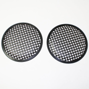 Universal 20cm (20cm ) Subwoofer Speaker Metal Waffle Cover Guard Grill Pack of 2