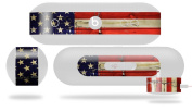 Painted Faded and Cracked USA American Flag Decal Style Skin - fits Beats Pill Plus