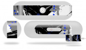 Abstract 02 Blue Decal Style Skin - fits Beats Pill Plus