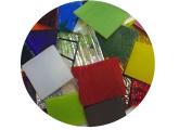 End Cut Bullseye Glass Sampler Pack, 90 COE, 0.1kg Bag