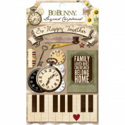 Bo Bunny Heritage Self-Adhesive Layered Chipboard