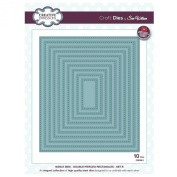 Craft Die CED5511 Sue Wilson Noble Collection - Double Pierced Rectangles Set B