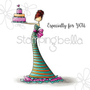 Stamping Bella Brittany The Birthday Girl Cling Rubber Stamp, 17cm x 11cm