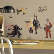 RoomMates Star Wars Episode VII Ensemble Cast Peel and Stick Wall Decals