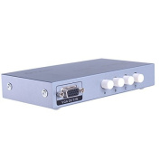DTECH 4 Port VGA Switch Box 4 In 1 Out Video Switcher for up to 4 PCs Share 1 Monitor 1920 x 1440 Resolution