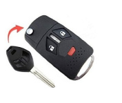 New Keyless Entry Right Groove 3 Buttons Remote Key Shell Case Fob for 2007 2008 2009 2010 Mitsubishi Eclipse Lancer No Chip