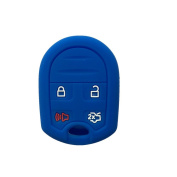 Protector Blue Silicone Smart Key Jacket Skin Cover for Ford Focus Flex Taurus Expedition F150 F250 F350 Super Duty Mustang Edge Explorer