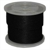 T. W. Evans Cordage 98324 . 950cm x 90m Solid Braid Propylene Multifilament Derby Rope in Black