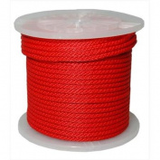 T. W. Evans Cordage 98333 . 950cm x 90m Solid Braid Propylene Multifilament Derby Rope in Red