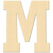 Baltic Birch University Font Letters & Numbers 13cm -Letter M
