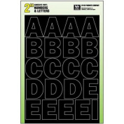 Hyko Prod. 30034 Self-Stick Letters And Numbers-5.1cm BLK LTR/NUMBER SET