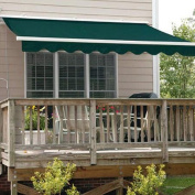 Aleko Retractable Awning, 10' x 8', (3m x 2.5m), Solid Green Patio Awning