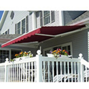 Aleko Retractable 13' x 10' (4m x 3m) Solid Burgundy Patio Awning
