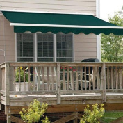 Aleko Retractable Patio Awning, 12' x 10', (3.65m x 3m), Solid Green