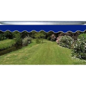Waterproof Aleko Dark Blue Fabric For Retractable Patio Awning, 4m x 3m
