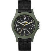 Timex Men's Expedition Acadia Green/Black Watch, Black Fabric Strap