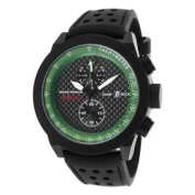 Glam Rock Men's Racetrack Air Race Chrono Black Silicone Carbon Fibre Dial