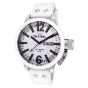 TW Steel CEO Canteen White Genuine Leather White Dial