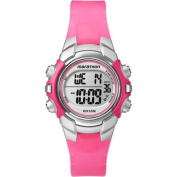 Marathon by Timex Digital Mid-Size Pink and Silver-Tone Watch