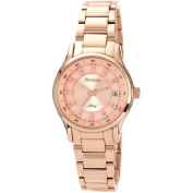 Armitron Women's Rose Gold-Tone IP Watch with Crystal Markers