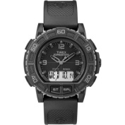 Timex Expedition Double Shock Black Watch, Resin Strap