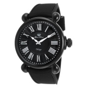 Glam Rock Women's Vintage Glam Black Rubber and Dial