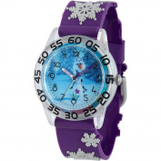 Disney Frozen Olaf Boys' Plastic Case Watch, Purple 3D Plastic Strap
