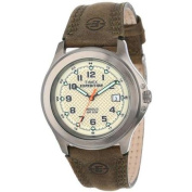 Timex T49953 Expedition Metal Field Green Leather Strap Analogue Watch