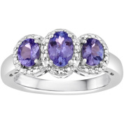1 Carat T.W. Genuine Tanzanite Sterling Silver Ring