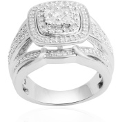 Forever Bride 1.00 Carat T.W. Diamond Sterling Silver Anniversary Ring